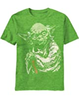 Star Wars Yoda Master Force Adult Green T-shirt