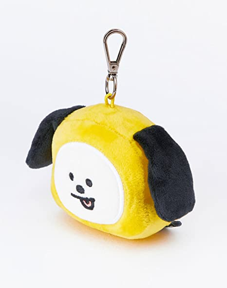 Amazon.com: Line Friends x BTS Collaboration_BT21 CHIMMY Plush Head Keychain: Clothing