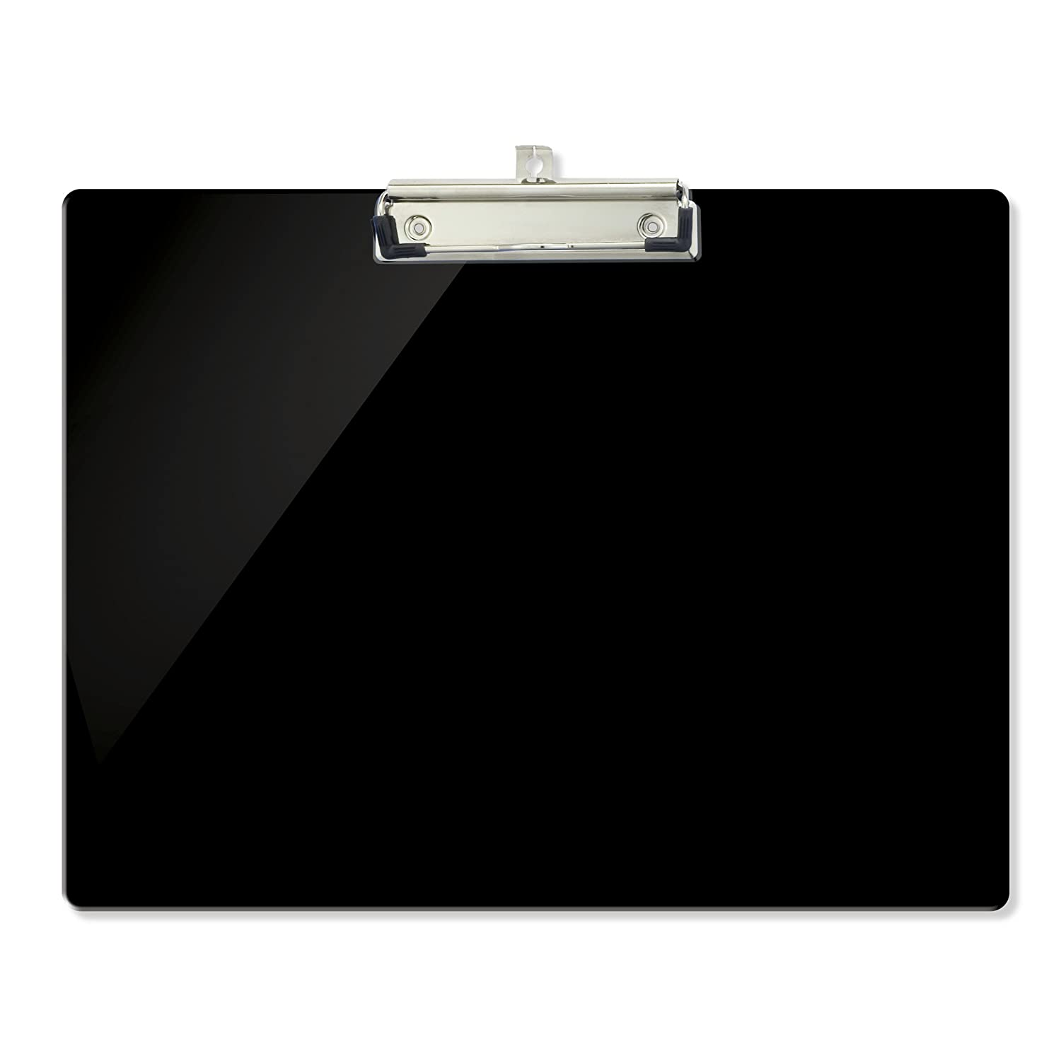 Officemate OIC Recycled Landscape Plastic Clipboard, Black (83050)
