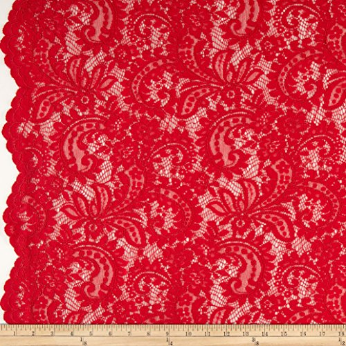 TELIO Amelia Lace Red Fabric By The Yard