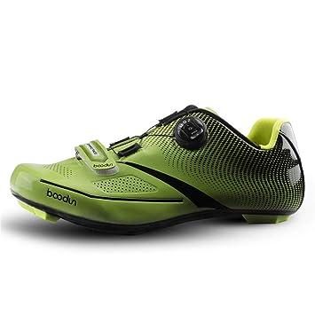 Calzado de Ciclismo para Hombre, Calzado de Ciclismo de Carretera Transpirable Profesión Unisex Outdoor Racing Shoes,Green,45: Amazon.es: Hogar