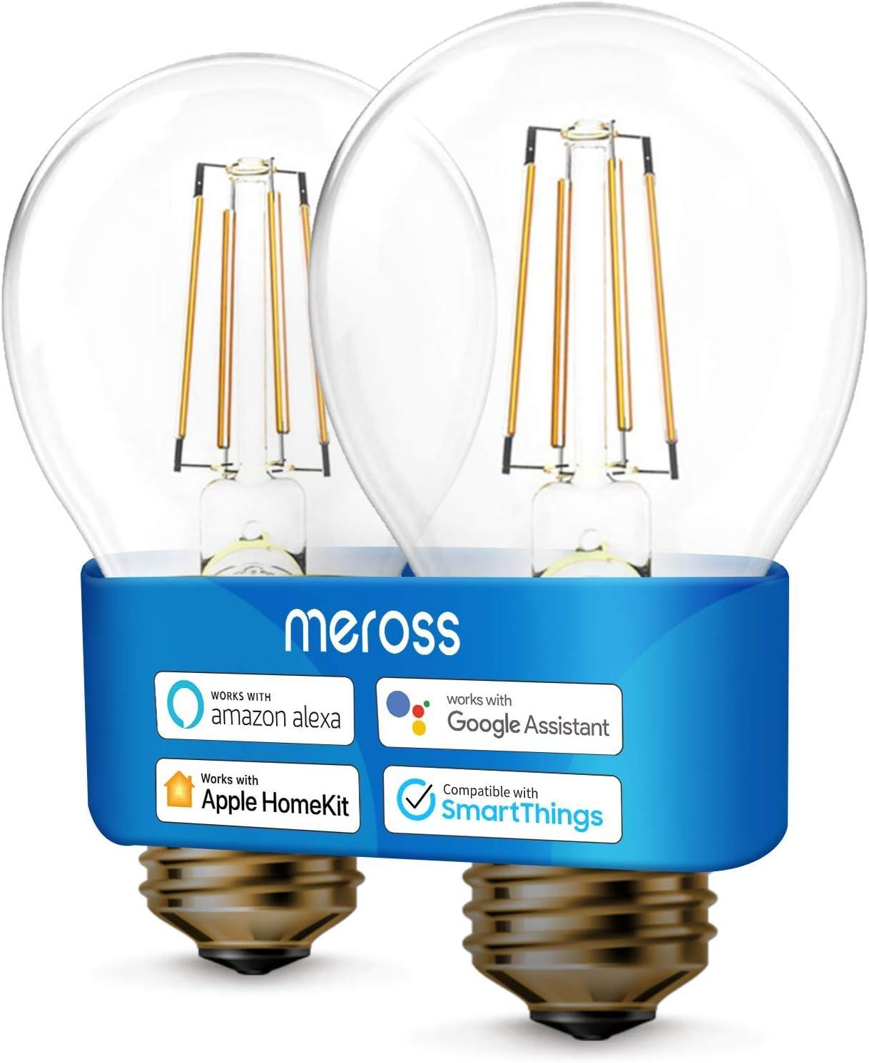 Ampoule LED Connectée Homekit, Ampoule Edison Intelligente Compatible avec Homekit, Siri, Alexa,...