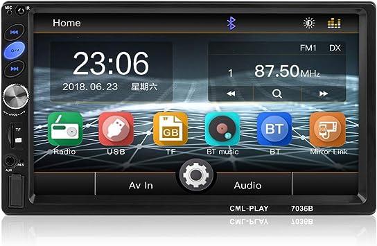 Toogoo 2 Din Auto Radio 7 Zoll Taste Android Spieler Subwoofer Mp5 Spieler Autoradio Bluetooth Rückfahrkamera Tonbandger T Auto
