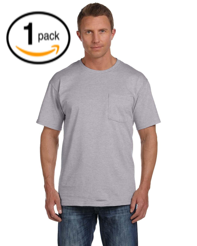 (フルーツオブザルーム) Fruit Of The Loom メンズ ヘビーウェイト ポケットつき 半袖Tシャツ トップス ショートスリーブTシャツ 男性用 B0195OTMGO X-Large|Assorted Grey Pocket Tees Assorted Grey Pocket Tees X-Large