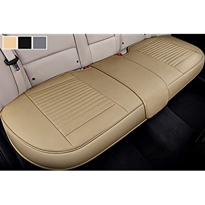 Big Ant Back Seat Covers, Separated Seat Cover PU Leather Back Car Seat Covers Breathable Back Cover Fit for Most Car, SUV, Vehicle Supplies (Beige-Flexible for Different Seat Size): Automotive