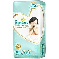 Pampers Premium Care Tape Diapers(6-11kg) (Packaging may vary), Medium, 48 ct