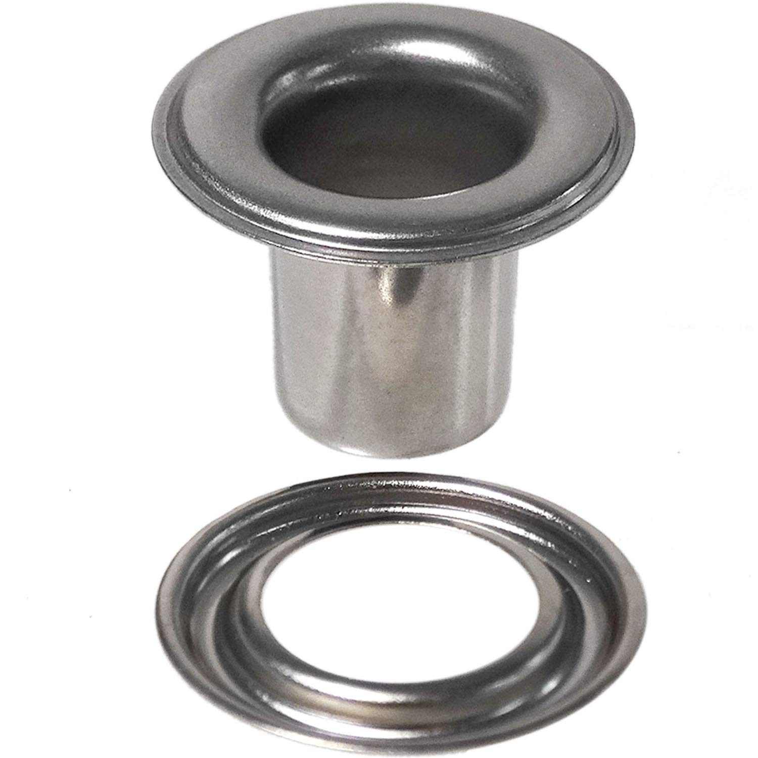 Stimpson Self-Piercing Grommet and Washer Stainless Steel 304 Reliable, Durable, Heavy-Duty #2XL Set (500 pieces of each)