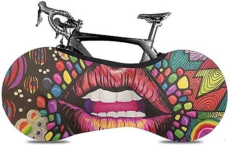 Cubierta De Rueda De Bicicleta,Labios Psicodélicos Dibujo De Arco ...
