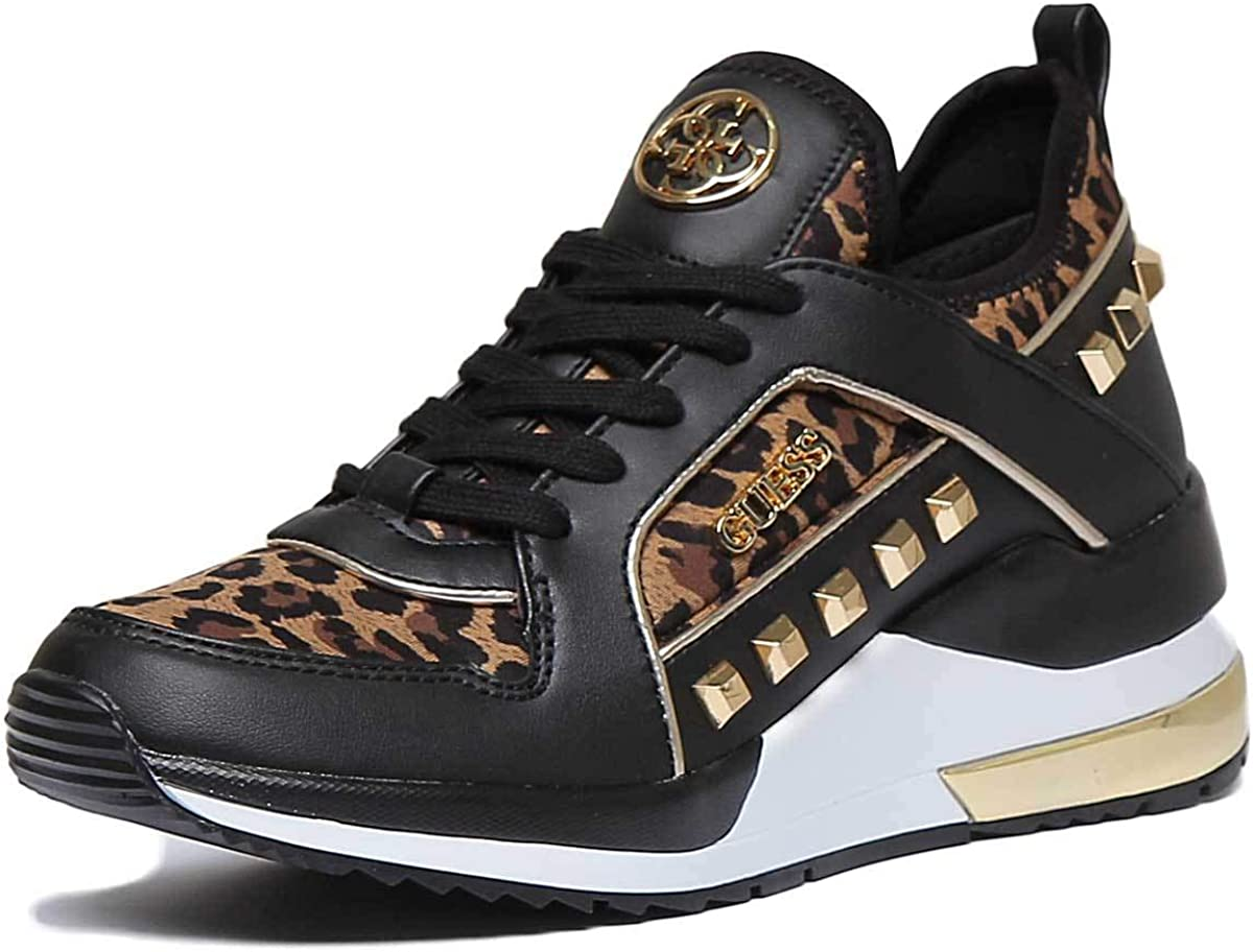 GUESS Fl5Julfap12 Trainers with Leopard