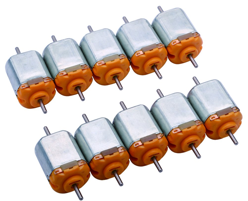 Yeeco 130 DC Motor Mini Electric Motor, 10 PCS 15000 RPM DC 3V High Speed Torque Electric Toy Cars Engine Motor Kit, Electric Machinery Motor for DIY Fan Toys Cars Models