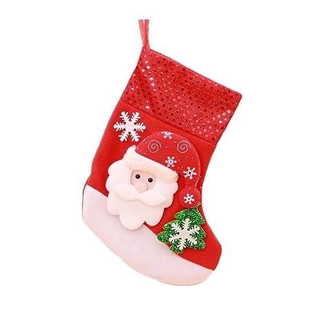 VI. yo de Navidad calcetín de Navidad medias calcetines de Papá Noel Candy bolsa de