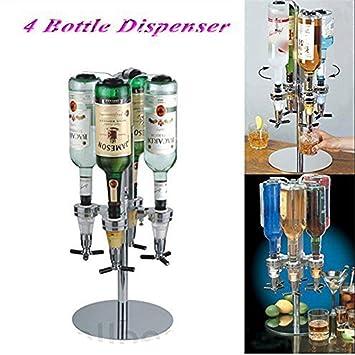 Soporte giratorio 4 botella rotación de dispensador de bebidas, (Pusheng), óptica dispensador