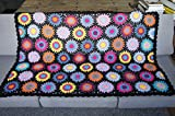 Daisy Flowers Fresh Granny Squares Crochet Afghan BLANKET 31.5*47.2 inches(80*120CM)