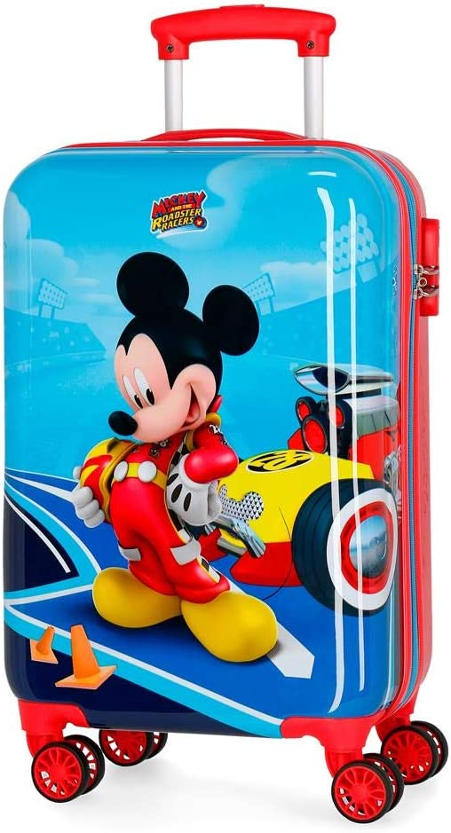 Maleta de cabina rígida Lets Roll Mickey