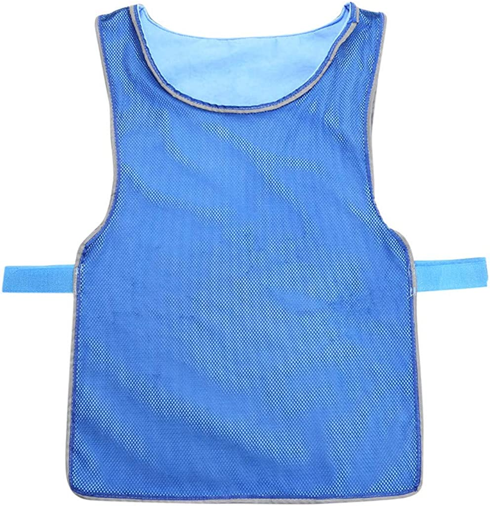 Jiayit Cooling Vest for Fishing,Cycling,Running, Unisex Summer Heatstroke Cooling Double-Sided Wear for Teens,Men and Women Blue