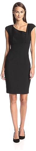 SOCIETY NEW YORK Women's Asymmetrical Neckline Dress