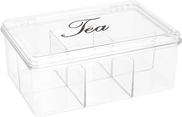 555Y40 - Caja Para Te Plastico Transparente: Amazon.es: Bricolaje y herramientas