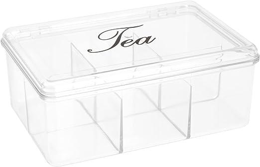555Y40 - Caja Para Te Plastico Transparente: Amazon.es: Bricolaje ...