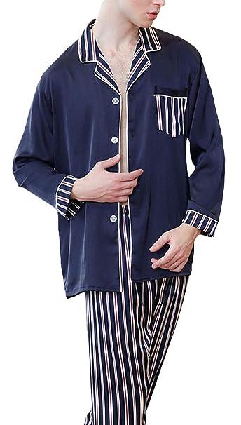 55d3d62b1c21 Pijamas Mujer Hombre Hombres Primavera Básicos Otoño Vintage Rayas ...