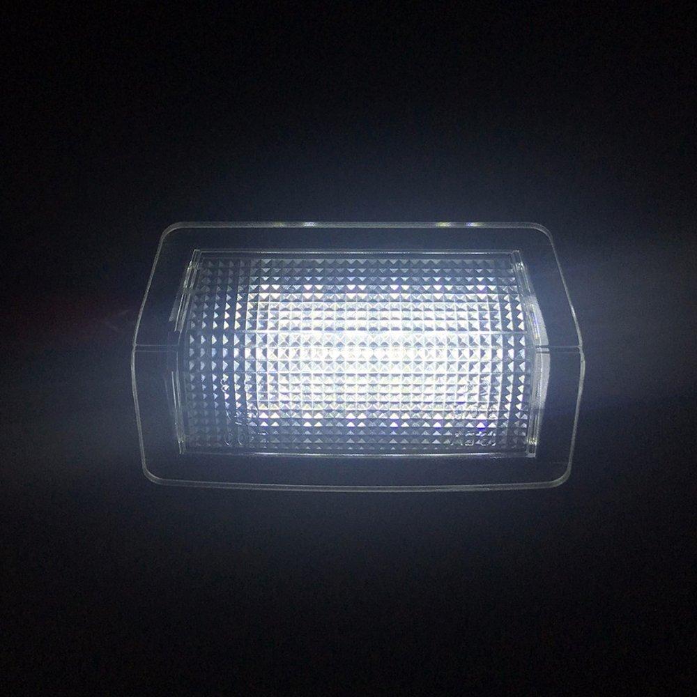 PolarLander 2X 18-SMD LED Enciende la l/ámpara del n/úmero de matr/ícula del Coche La Placa de matr/ícula para B-ENZ W203 4Door 2001-2007