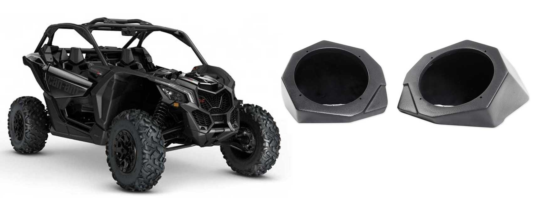 Can-Am Maverick X3 All-Years 6.5'' Speaker Pod Enclosures Front Kick Panels by SSV Works (Image #1)