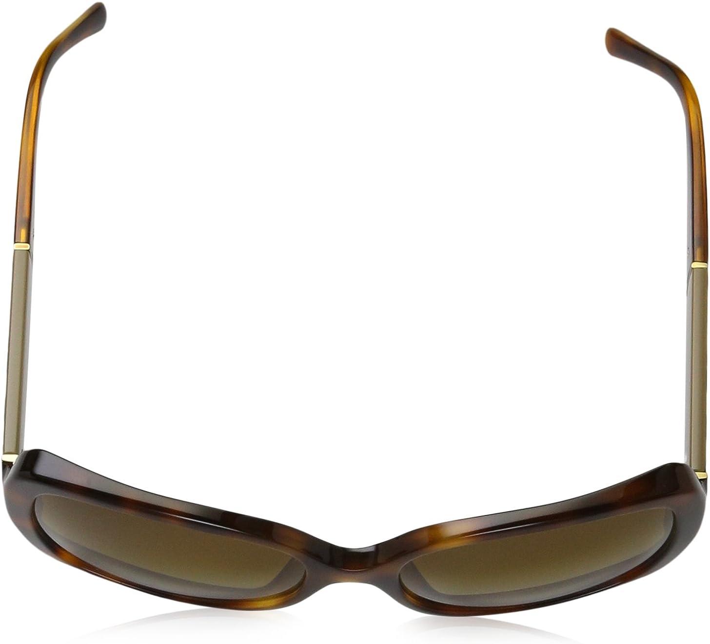 BURBERRY mixte adulte Lunettes de Soleil BE4160 Marron (Light Havana/Polar Brown Gradient)