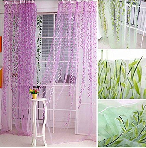 Aiweasi Wicker Decorative Curtain Screens Purple 1X2M