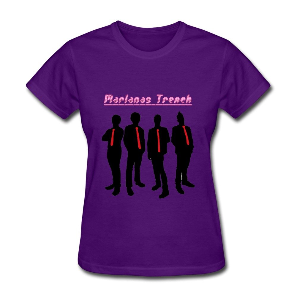 Woman Quotes Organic Cotton Marianas Trench T Shirts Size L Color Purple