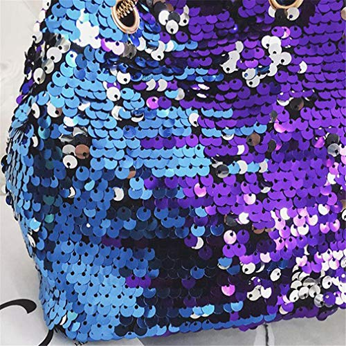 Mini Bling Glitter Multi Sequins Bucket Handbags Women Tote coloured Bags 6qHEY