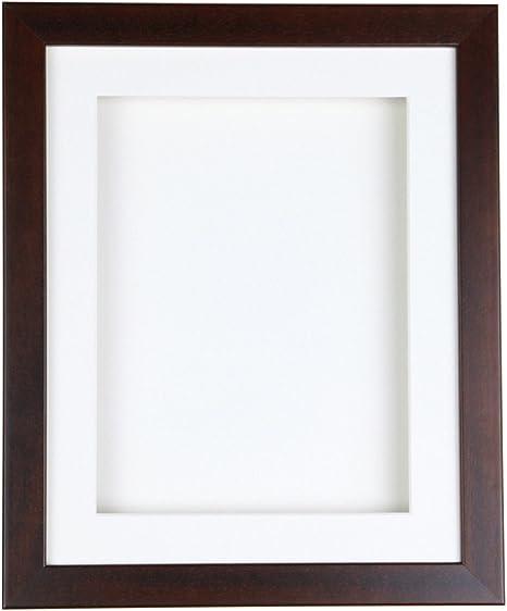 Tailored marcos nogal caja marco para recuerdos, medallas y objetos en 3d, madera, White mount, 7 x 5