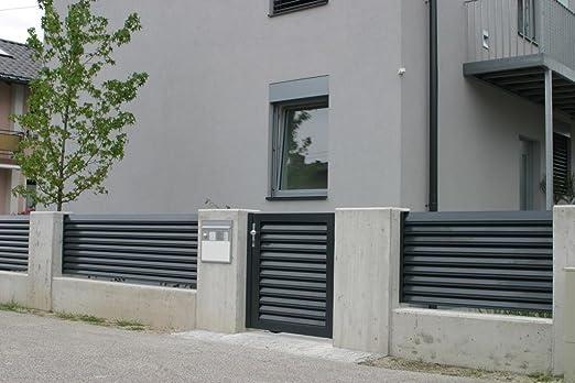 Aluminio valla TRENTO, valla para casa y el jardín, vallas de aluminio con garantía de por vida: Amazon.es: Hogar
