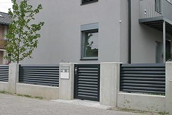 Gartenzaun Zaun Trento Aluminium Fur Garten Und Haus Aus