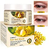 Gold Eye Mask, Collagen Eye Mask, Eye Wrinkle Pads, collagen eye pads, Hyaluronic Acid anti aging eye mask for Dark Circles, Puffiness, Wrinkles and Bags & Fine Lines