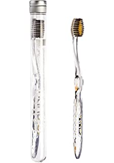b2f55adb1c8d Antibacterial Manual Toothbrush Gold   Bamboo Charcoal Crystal Design - Pro  Head, Soft