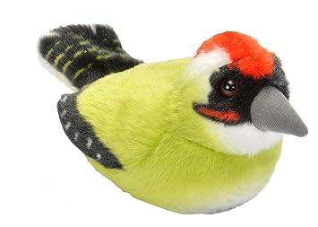 Wild Republic - Aves, Pito Real con Sonidos Reales Peluche, 13 - 16 cm