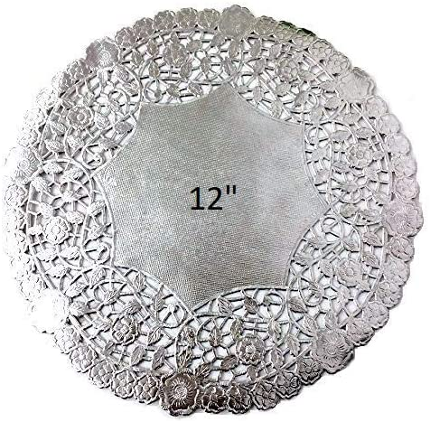 Royal Lace Round Foil Doilies Pack of 8 B26506 10-Inch Silver