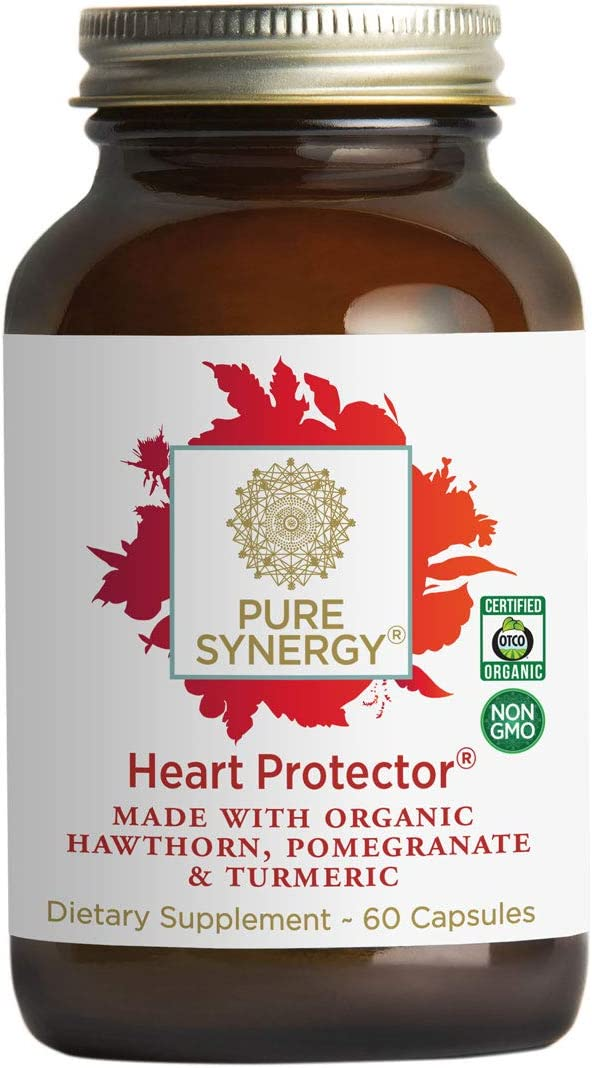 Pure Synergy Organic Heart Protector 60 Capsules Complete Heart Supplement w Hawthorn