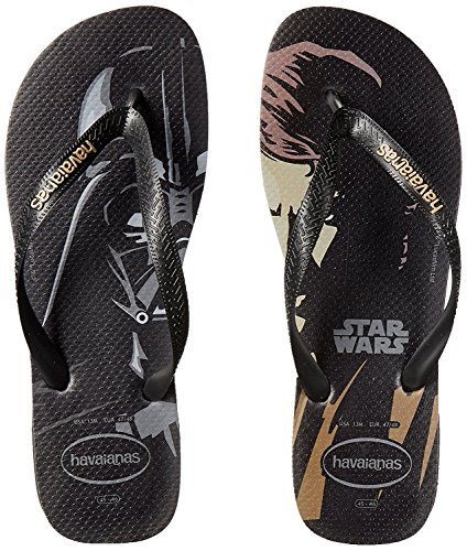 Havaianas Mens Star Wars Sandal Flip Flop Nero / Nero