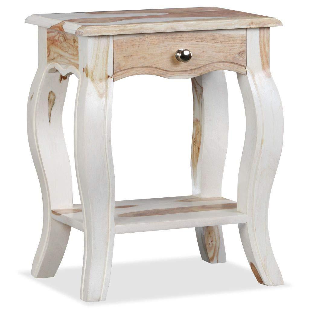 Generic IDE Table de Chevet Style cabane en Bois Massif avec Elfe ...