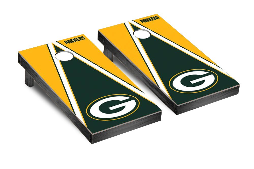 NFL Green Bay Packers Triangle Version Football Corn hole Game Set, One Size by Victory Tailgate (Image #1)