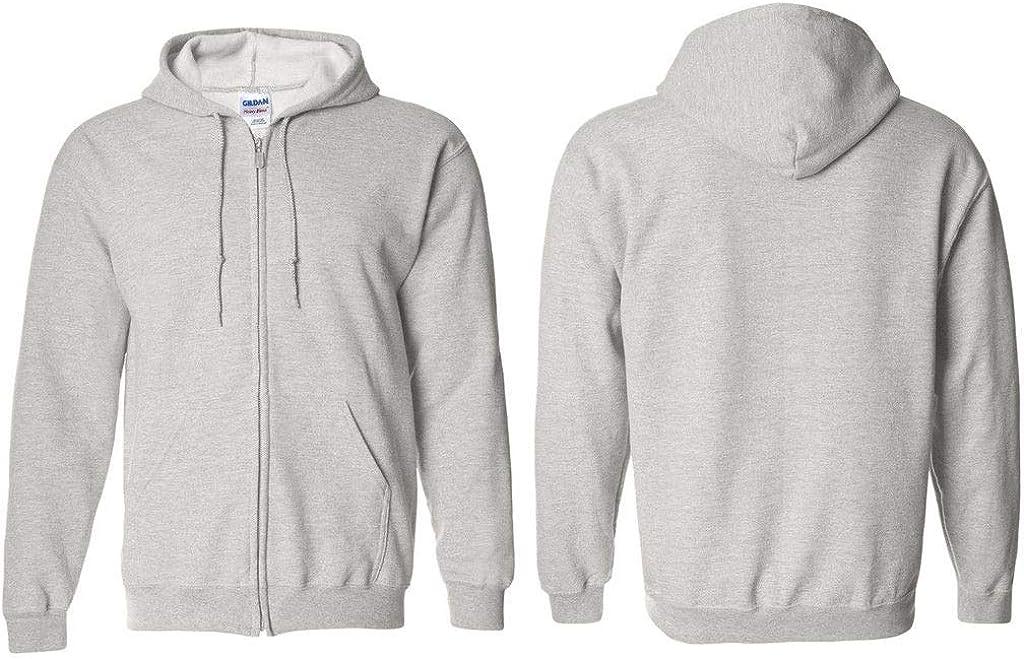 Mens Full-Zip Hooded Fleece Zip Hooded Sweatshirt Cozy Fleece 50//50 Preshrunk Cotton//Poly Sweatshirt S-3XL