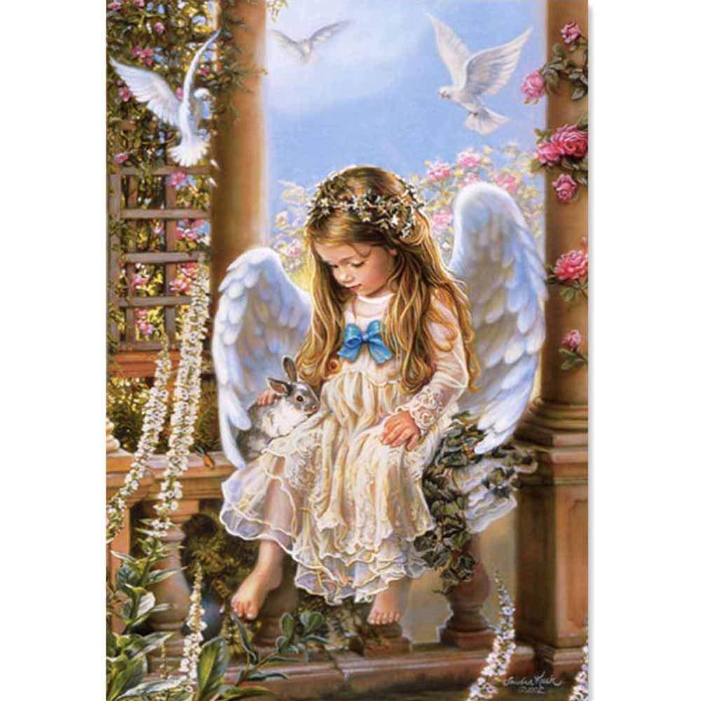 5D DIY Diamond Painting Guardian Angels,Cross Stitch,Full Diamond Embroidery Fairy Angel 3D Diamond mazayka 5d Diamond Mosaic Stickers Decor