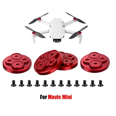 Darkhorse Upgraded Aluminum Motor Cover Cap 4 Pieces for DJI Mavic Mini Drone Accessory - Dustproof,Waterproof,Scratchproof Protection Mounts - Red: Toys & Games