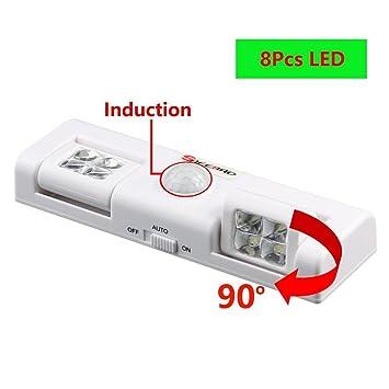 Sensor De Movimiento LED Night Light, Luz De Emergencia Portátil para Armario Ropero Armario Escaleras: Amazon.es: Deportes y aire libre