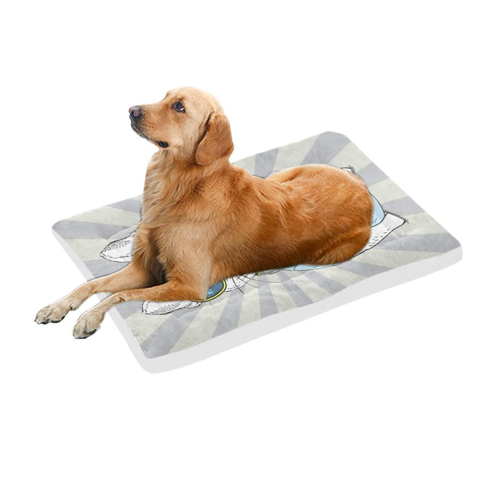 42\ your-fantasia Doggy with Earphones Pet Bed Dog Bed Pet Pad 42 x 26 inches