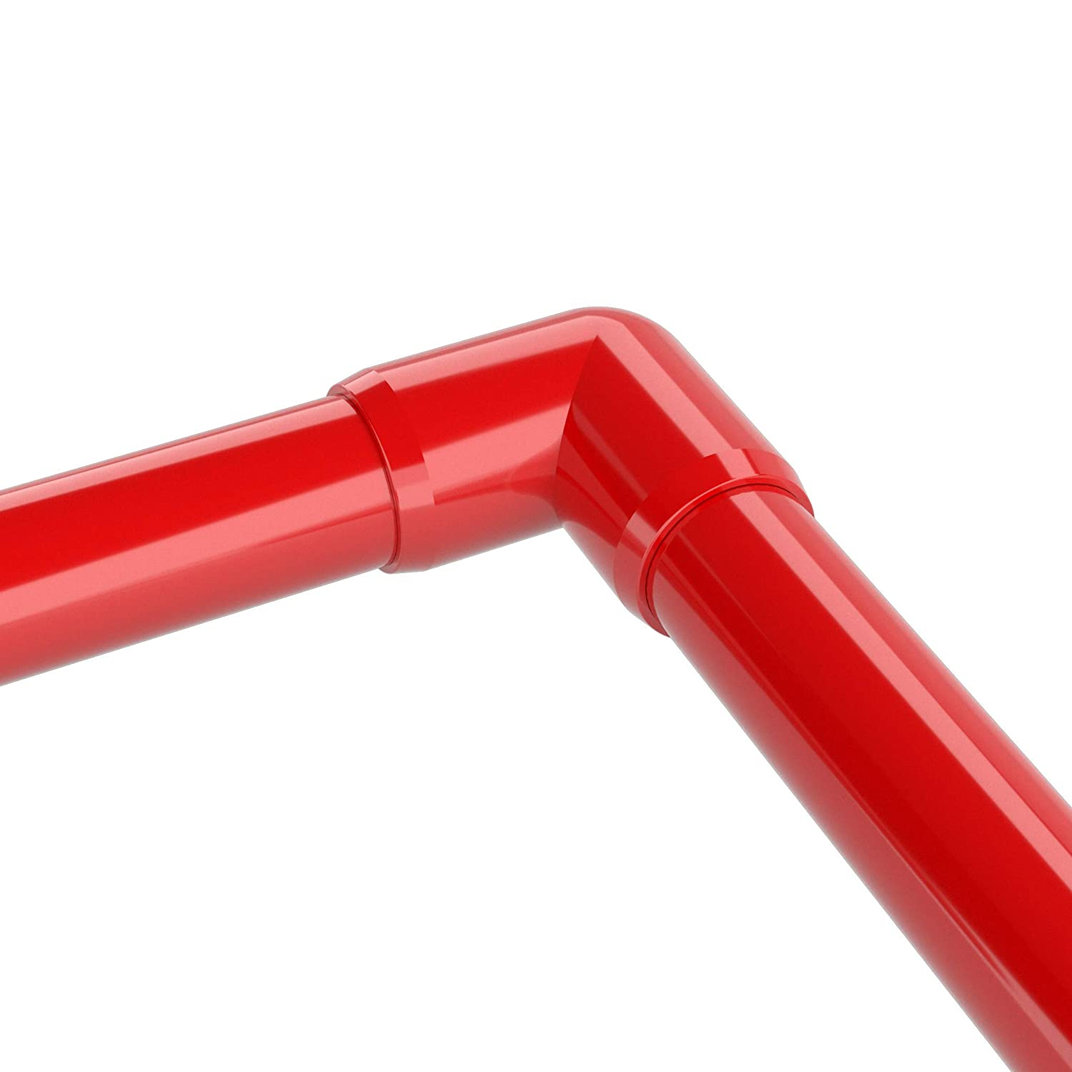 Furniture Grade FORMUFIT F01290E-RD-10 90 degree Elbow PVC Fitting 1//2 Size Pack of 10 1//2 Size Red