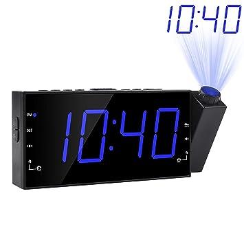 Da-upup Despertador proyector Techo, Radio Reloj Despertador FM ...