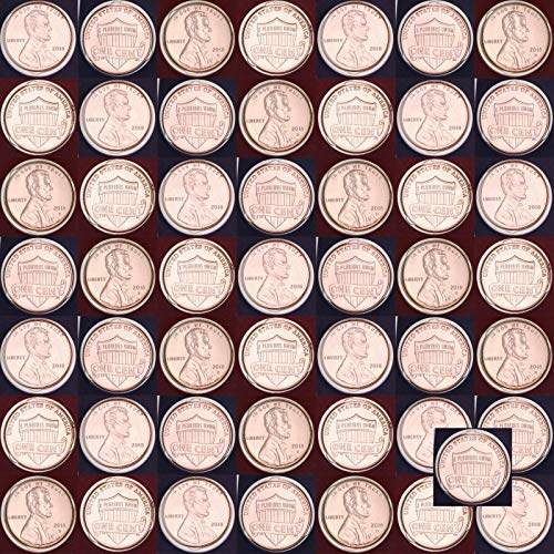 Dollar Eisenhower Roll (2018 P D Lincoln Shield Cents 50 Coin Roll US Mint Cello Brilliant Uncirculated)