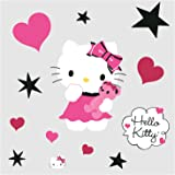 Roommates Rmk2014Gm Hello Kitty Couture Peel And Stick Giant Wall Decal