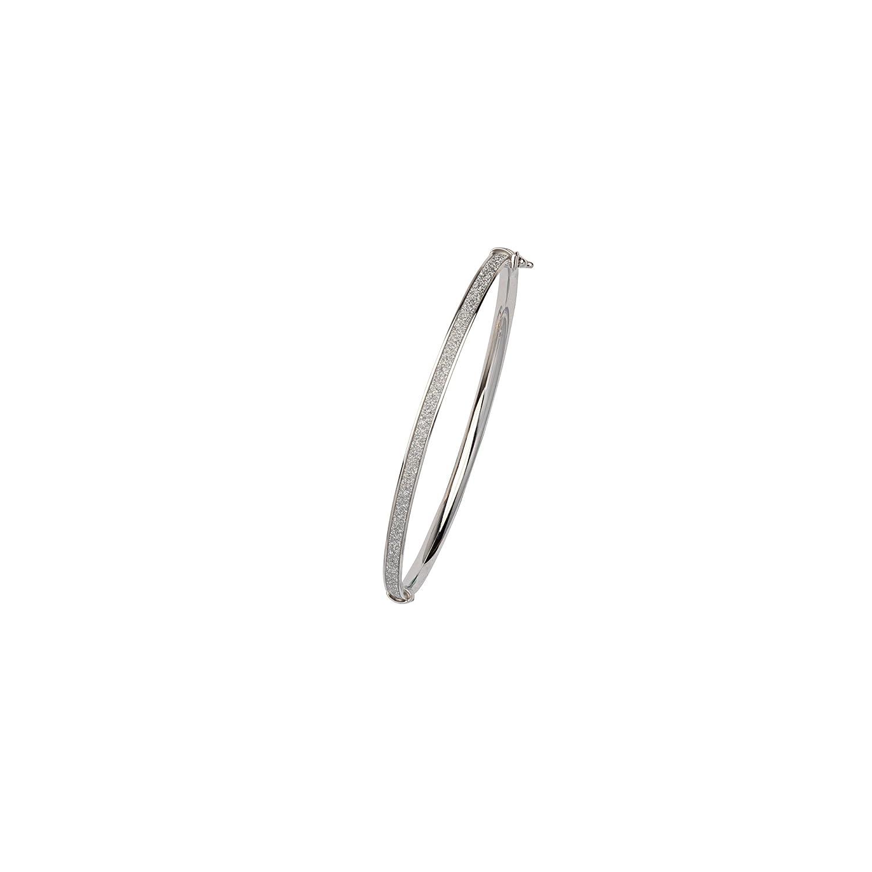 4Mm Flat Tube Glitter Lightz Bangle Hoop Earrings